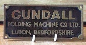 Cundall Machine Plate c1940