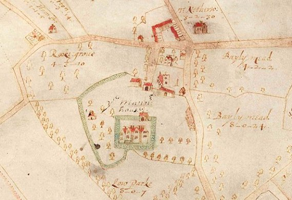 1638 Map of Wimpole by Benjamin Hare