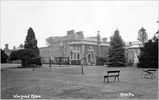 Tennis Court at Wimpole Hall, c1905