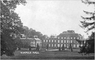 Rear of Wimpole Hall, c1905