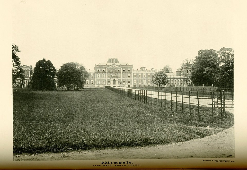 Wimpole Hall c1890, South Front