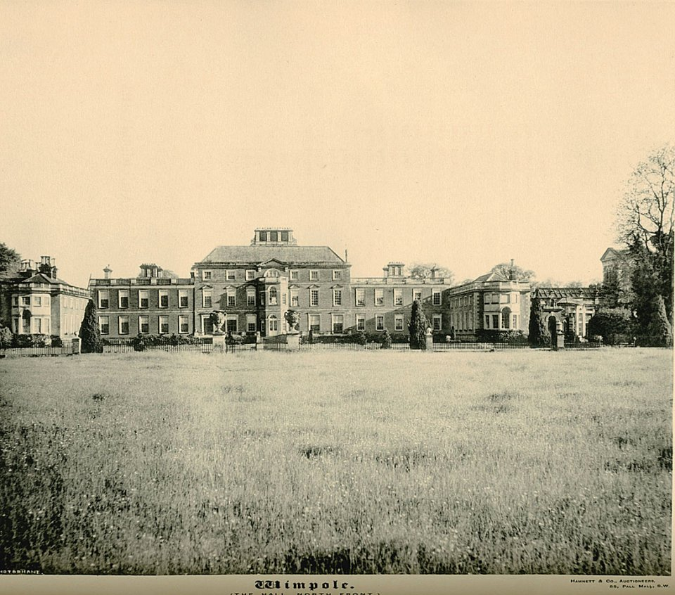 Wimpole Hall c1890, North Front