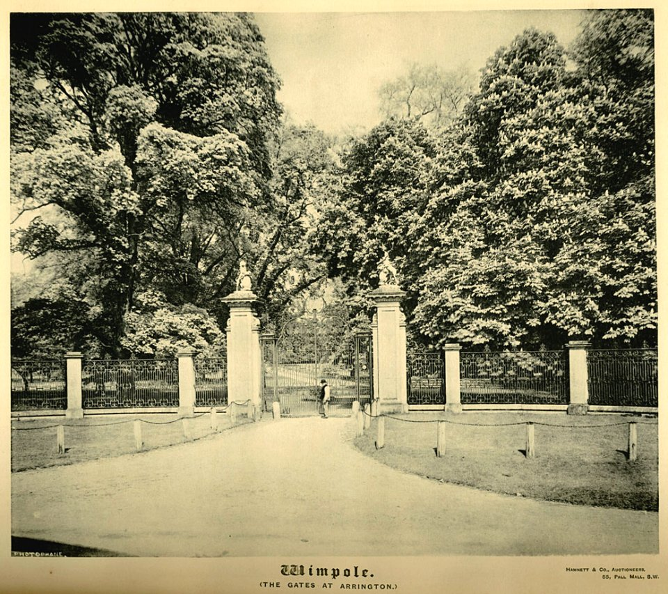 Wimpole Hall c1890, Arrington Gates