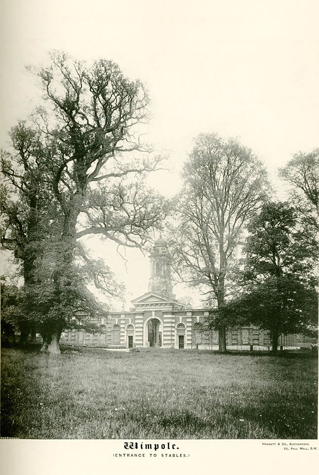 Wimpole Hall c1890, Entrance to Stables