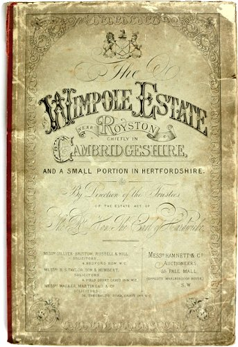 Auction Prospectus, Wimpole Hall Sale, August 1891
