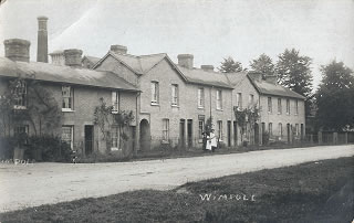 Brewery Cottages and Chimney c1910